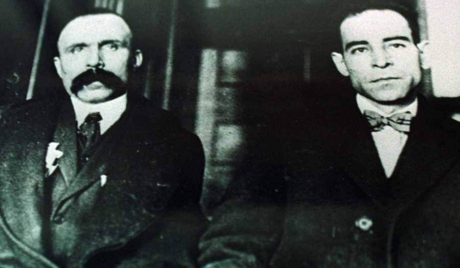 The state's most notorious death penalty case involved Nicola Sacco, left, and Bartolomeo Vanzetti, right.