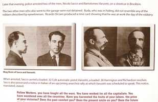 Italian anarchists Nicola Sacco and Bartolomeo Vanzetti were convicted of murdering two men during the armed robbery of a shoe factory in Braintree in 1920.
