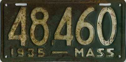 Massachusetts first began issuing drivers licenses and registration plates in June of 1903.