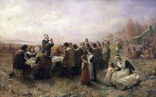 The first Thanksgiving Day was celebrated in Plymouth in 1621.