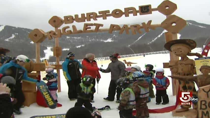 Jay Peak recently opened Playtime Burton Riglet Park, a snowboard learning center developed in association with Burton Snowboards.