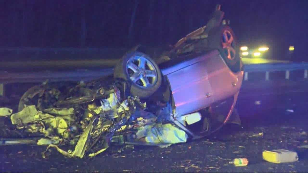 One person was killed in a crash on I-93 in Wilmington early Sunday morning.