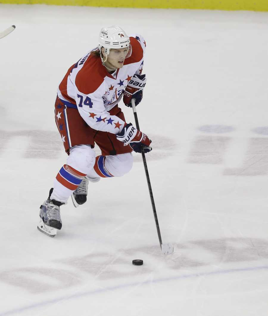 John Carlson, who was born in Natick, Mass., is on the men's ice hockey team. He also plays for the Washington Capitals.