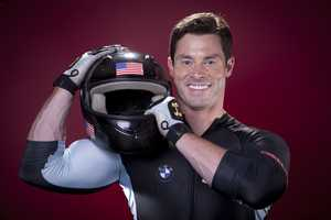 Steve Langton, of Melrose, Mass., is on the bobsled team. He also attended Northeastern University.