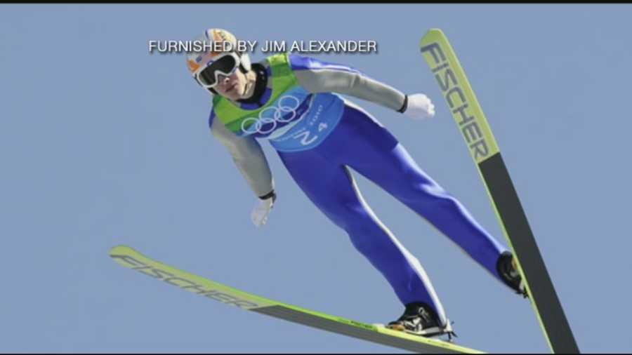 Nick Alexander, of Lebanon, N.H., is a ski jumper.