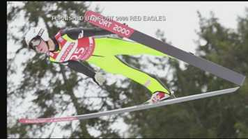 Nick Fairall, of Andover, N.H., is a ski jumper.