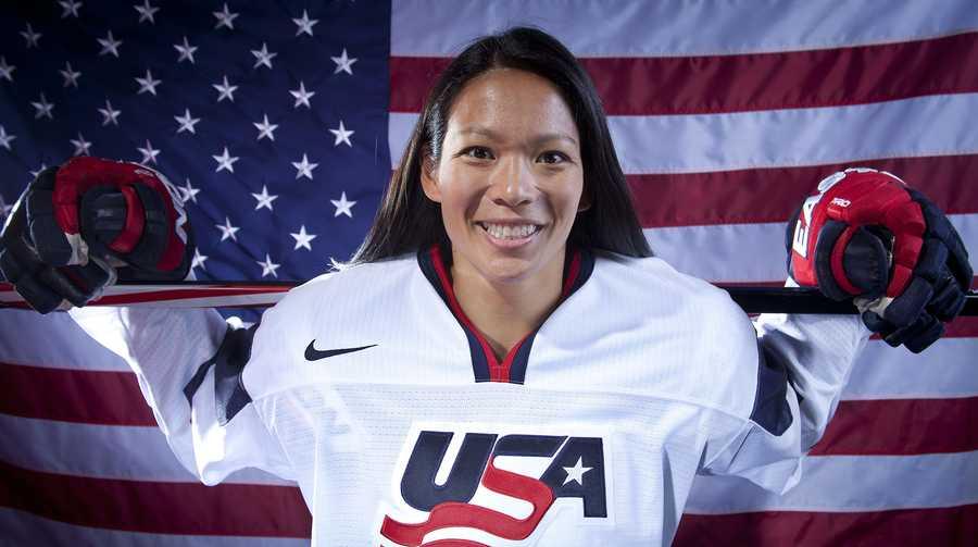 Julie Chu, of Fairfield, Conn., is on the women's ice hockey team.