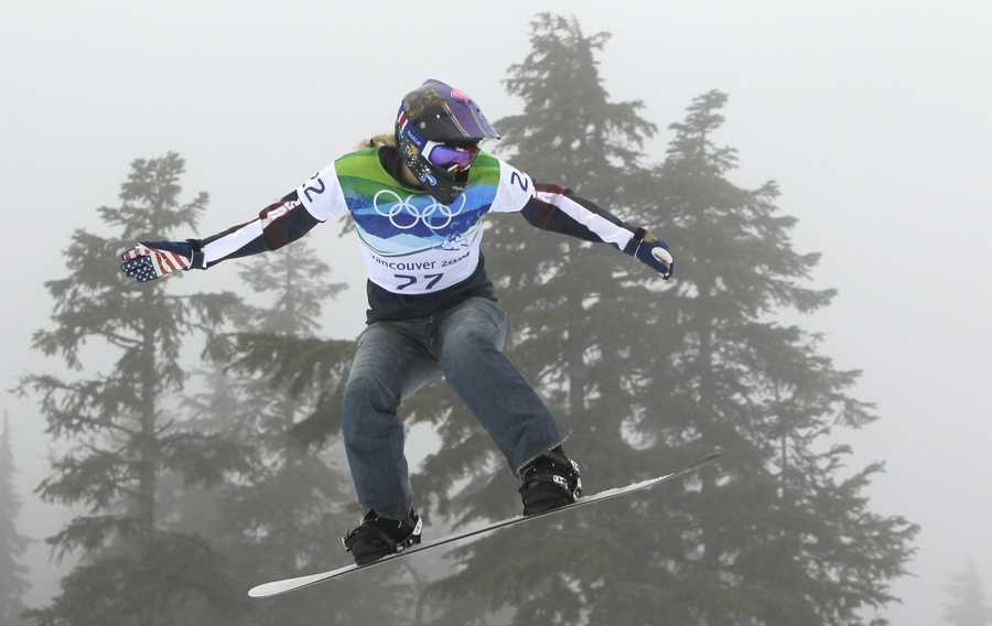 Lindsey Jacobellis, of Roxbury, Conn., is a snowboarder.