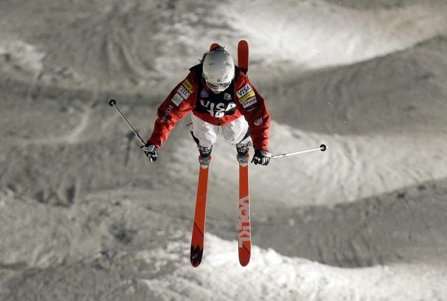 Eliza Outtrim, of Hamden, Conn., is a freestyle skier.