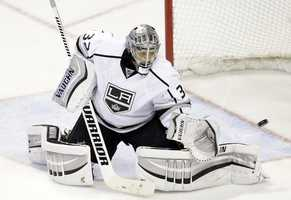 Jonathan Quick, of Milford, Conn., is on the men's hockey team. He also plays for the Kings.