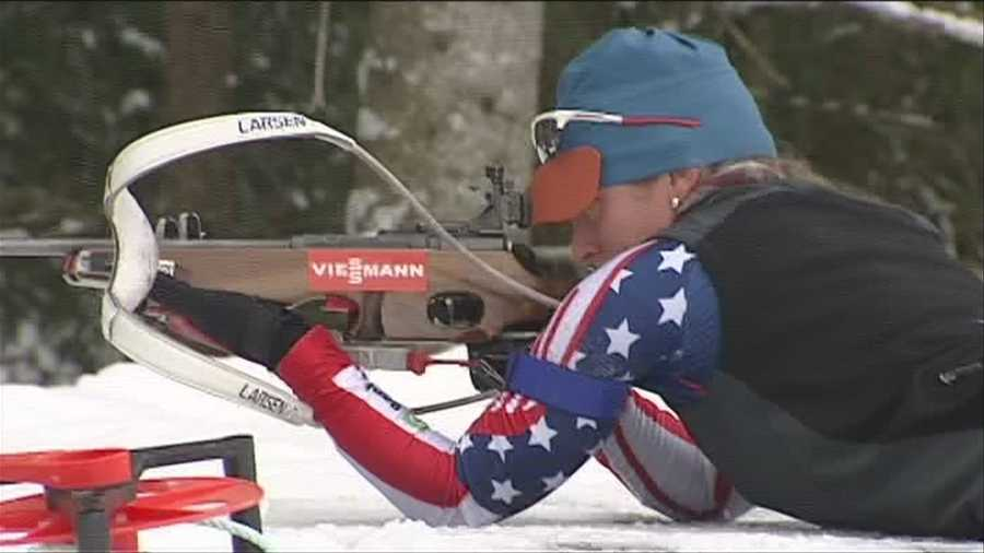 Hannah Dreissigacker, of Morrisville, Conn., is competing in the biathlon.