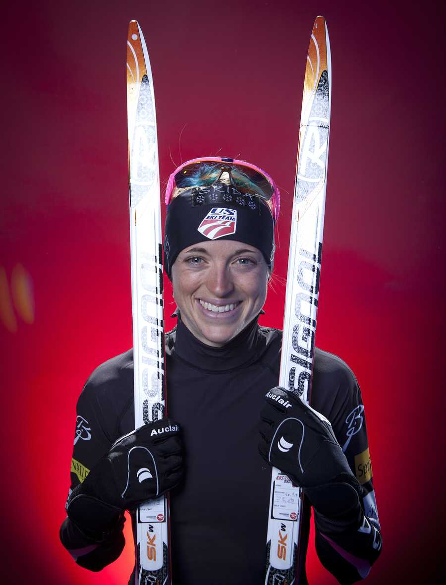 Liz Stephen, of East Montpelier, Vt., is a cross-country skier.