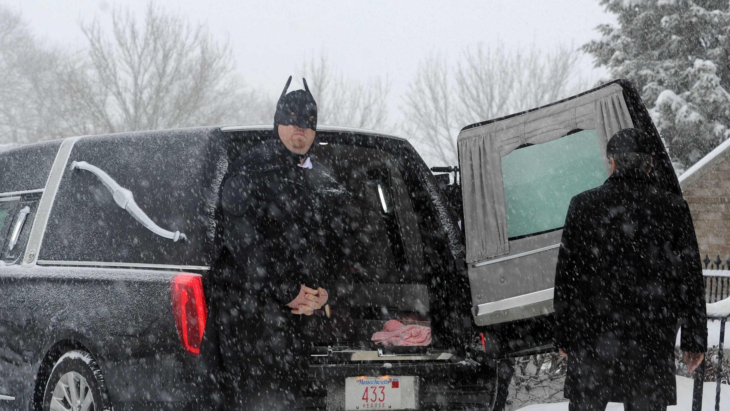 Middleborough boy's funeral, batman