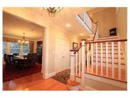The Cedar shingle home is in a close to all neighborhood.