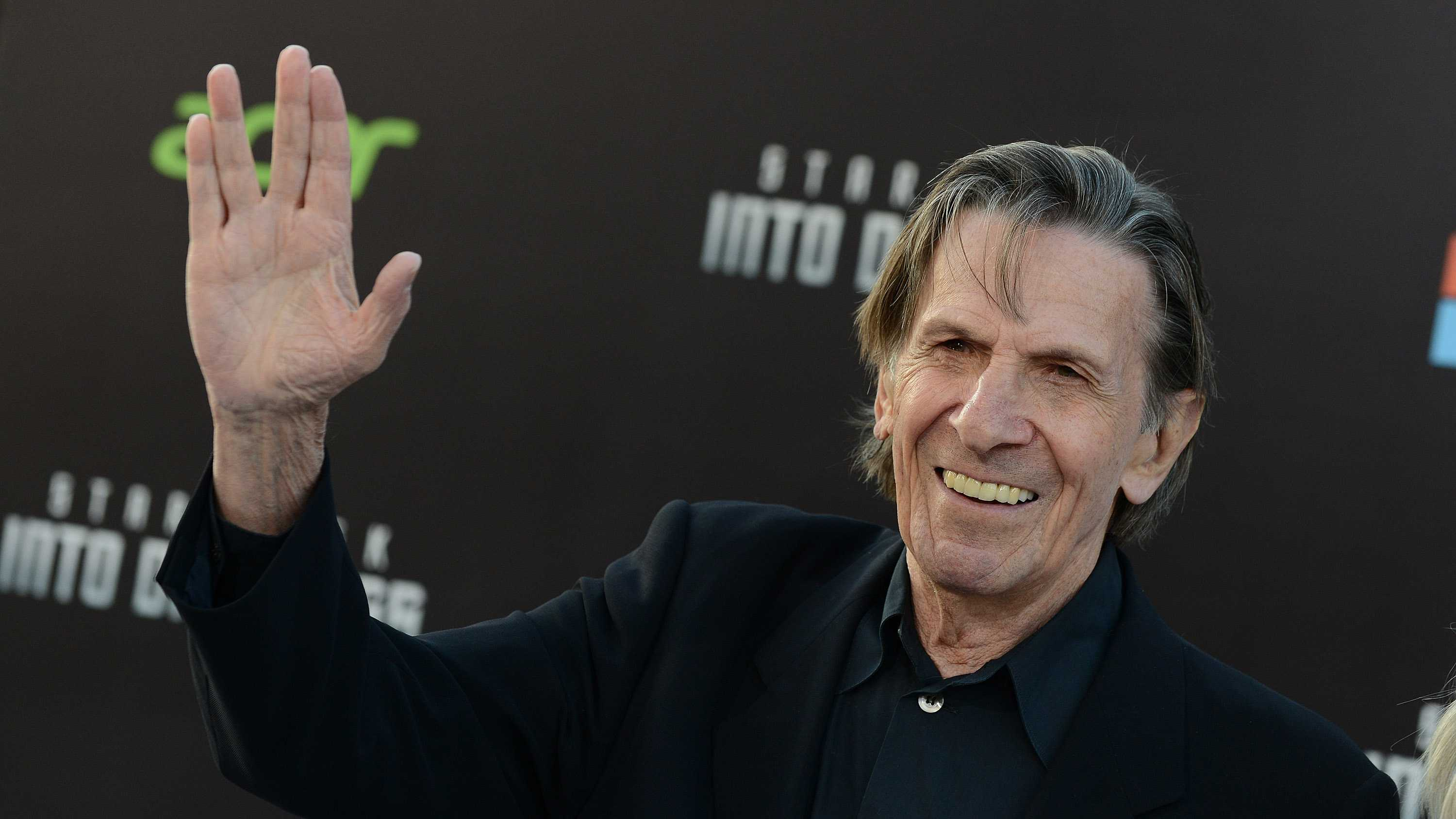 "Leonard Nimoy arrives at the LA premiere of ""Star Trek Into Darkness"" at The Dolby Theater on Tuesday, May 14, 2013 in Los Angeles."
