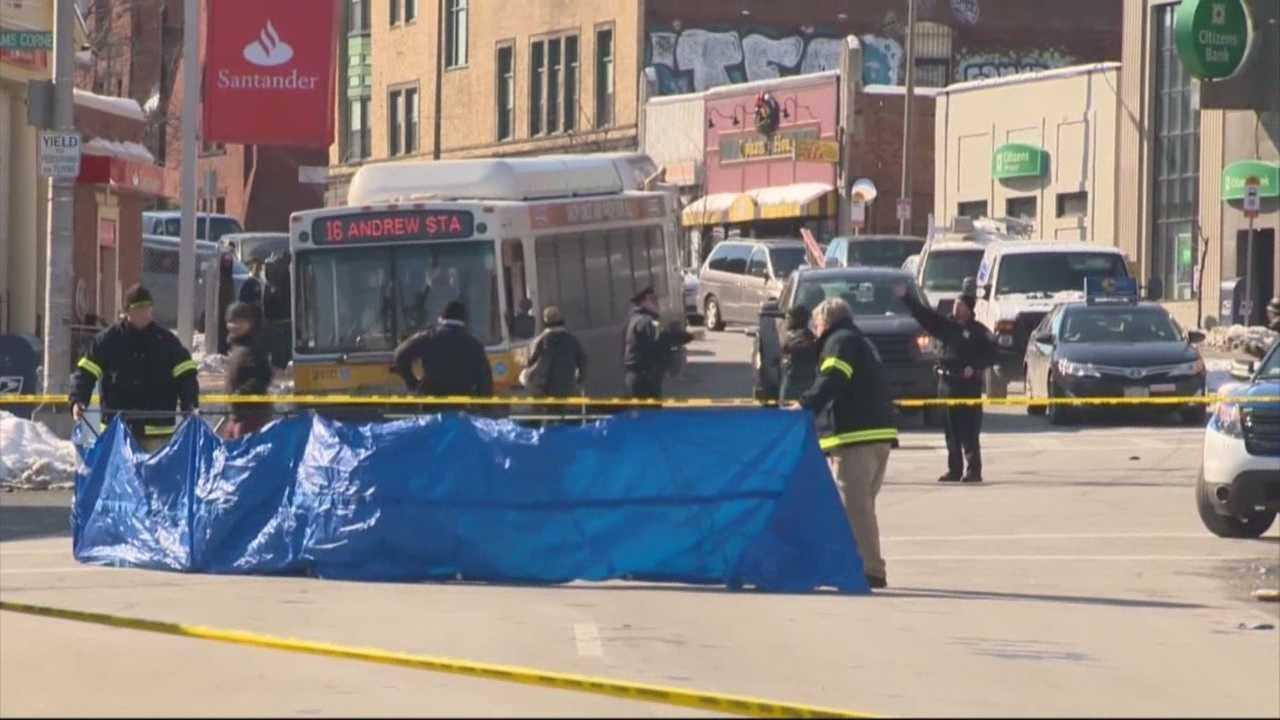 Woman struck by MBTA bus