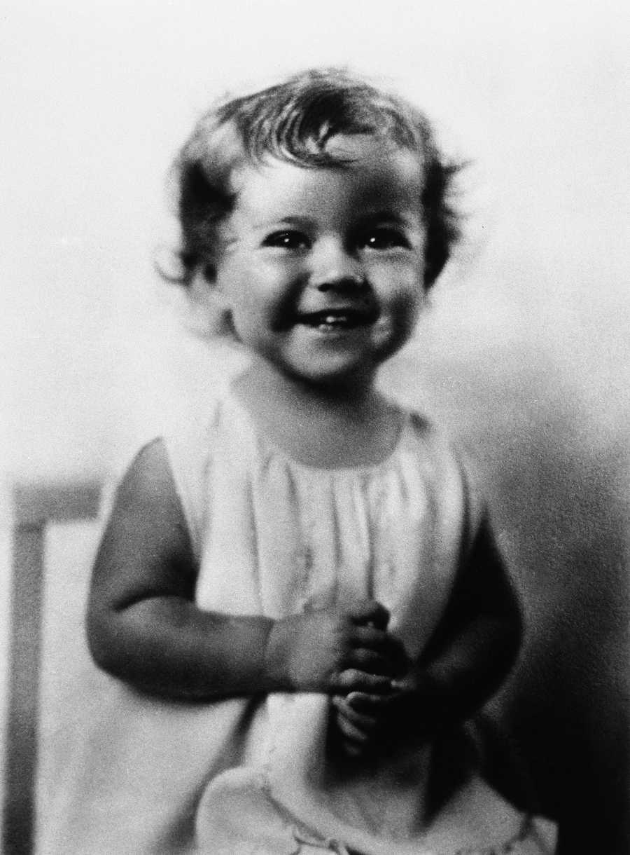 Shirley Temple when she was two years old on April 1931.