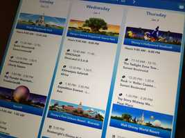 Using the MyDisneyExperience app on your phone, you can book FastPass+ ride times and tweak the times as you go.