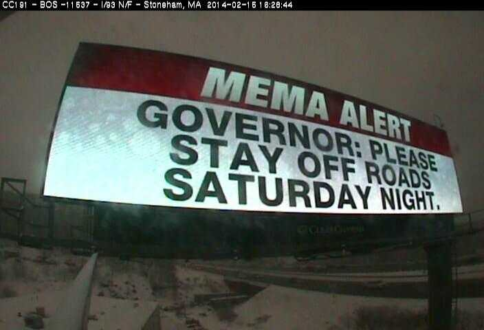 A warning to drivers from the state to stay off the roads Saturday night.