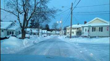 A street in Quincy Sunday morning.