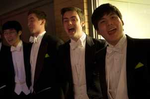 """""""It's an honor to be able to sing a piece of history,"""" said Kevin Hilgartner, a singer from the Harvard Din & Tonics"""
