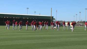 The Boston Red Sox opened the 2014 Spring Training season in Fort Myers, Florida.
