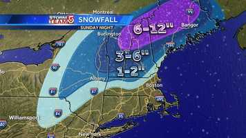 December 29: Southern New England saw heavy rain and wind, while northern New England had heavy snow.