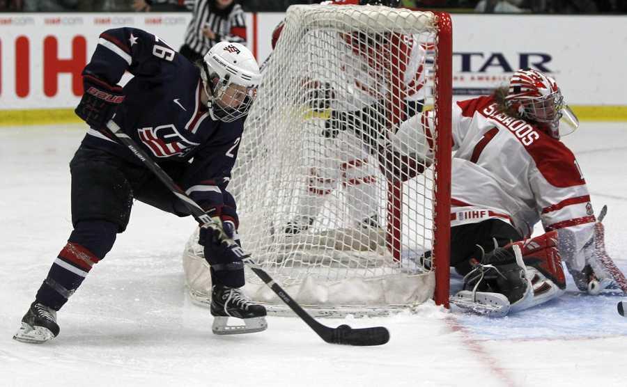 Kendall Coyne plays for Northeastern University.