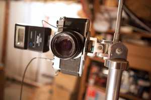 The film camera Baden has been using.