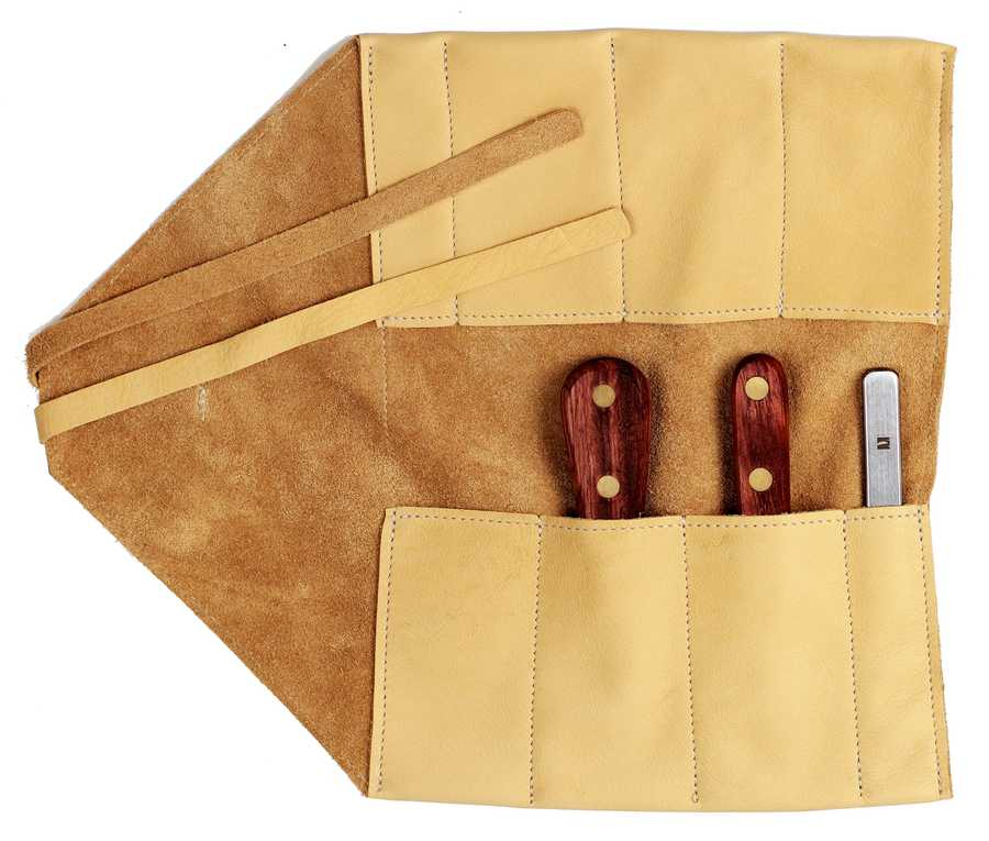 The Shellfish Knife Set with leather roll-up by R. Murphy Knives will be in the Oscar swag bag. Two of their best-selling oyster knives, plus a clam knife and a crabmeat knife are pocketed in a butter soft leather wrap secured with leather ties.