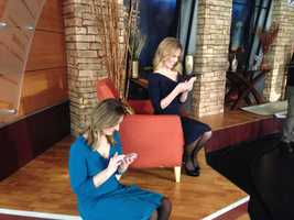 Erika, seen checking her email with EyeOpener traffic reporter, Olessa Stepanova has a 2-year-old son.