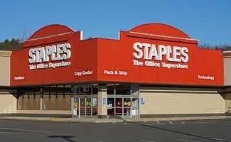Staples is based in Framingham, Mass.