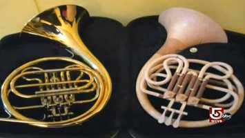 His first project was a French Horn.