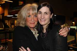 Susan with 5 p.m. producer Lisa Simmons.