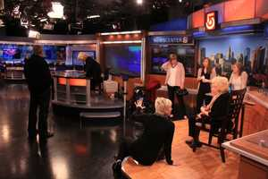 Members of Susan's family were in the studio to watch her final newscast.