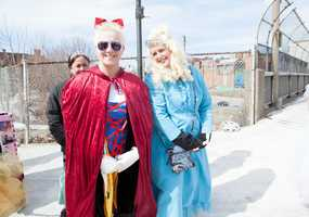 """Bonnie Gawrys (left), 61, and Lin Ondil-Clark (right), 47, are two members of the """"Dysfunctional Disney Princesses"""" team."""