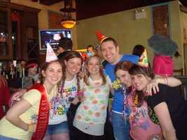 "The team ""Happy birthday, Emily"" in 2011"
