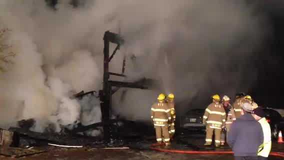 A large barn on Cherry Street in Wenham burned Sunday morning.