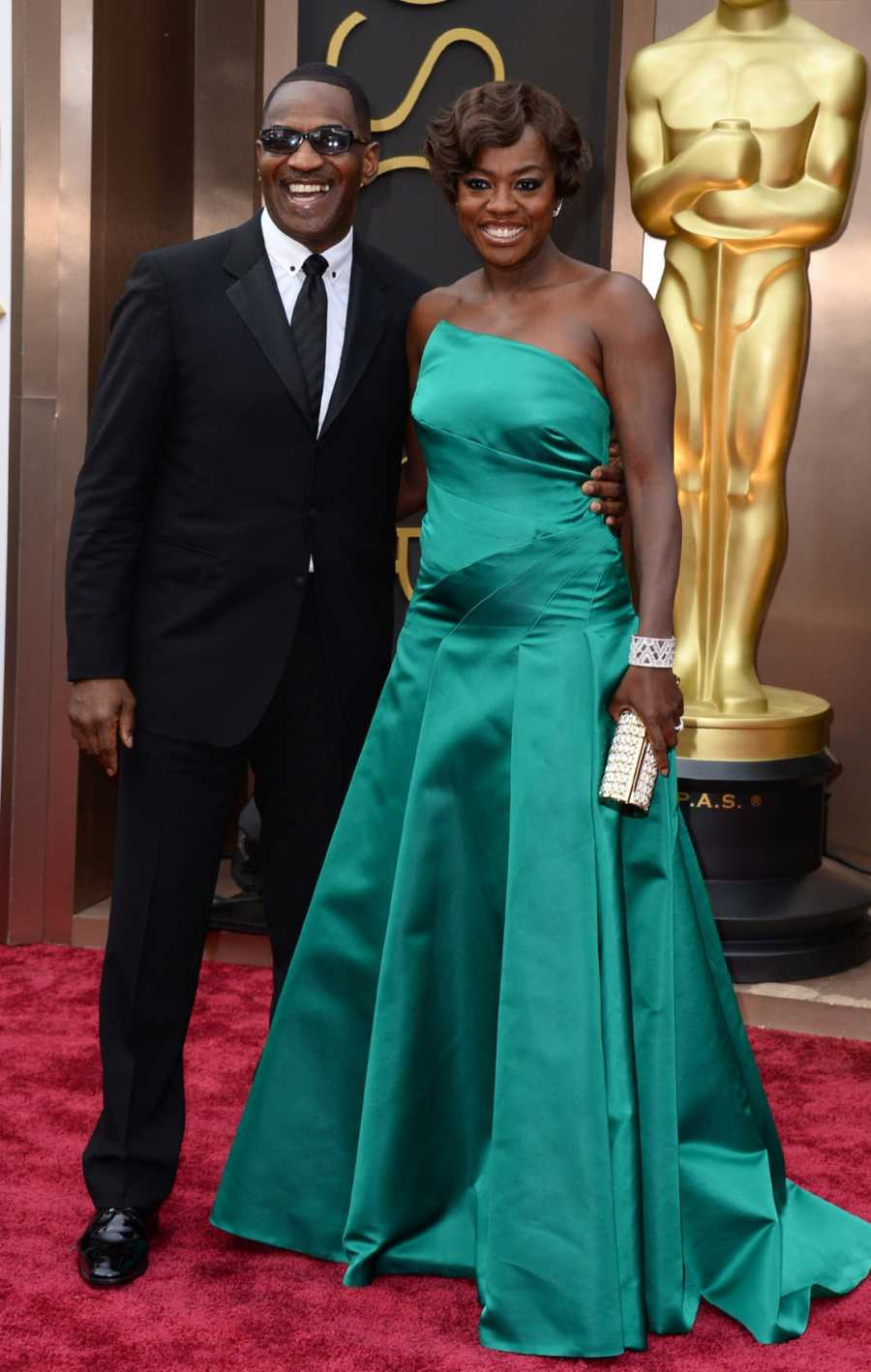 Actress Viola Davis and Julius Tennon