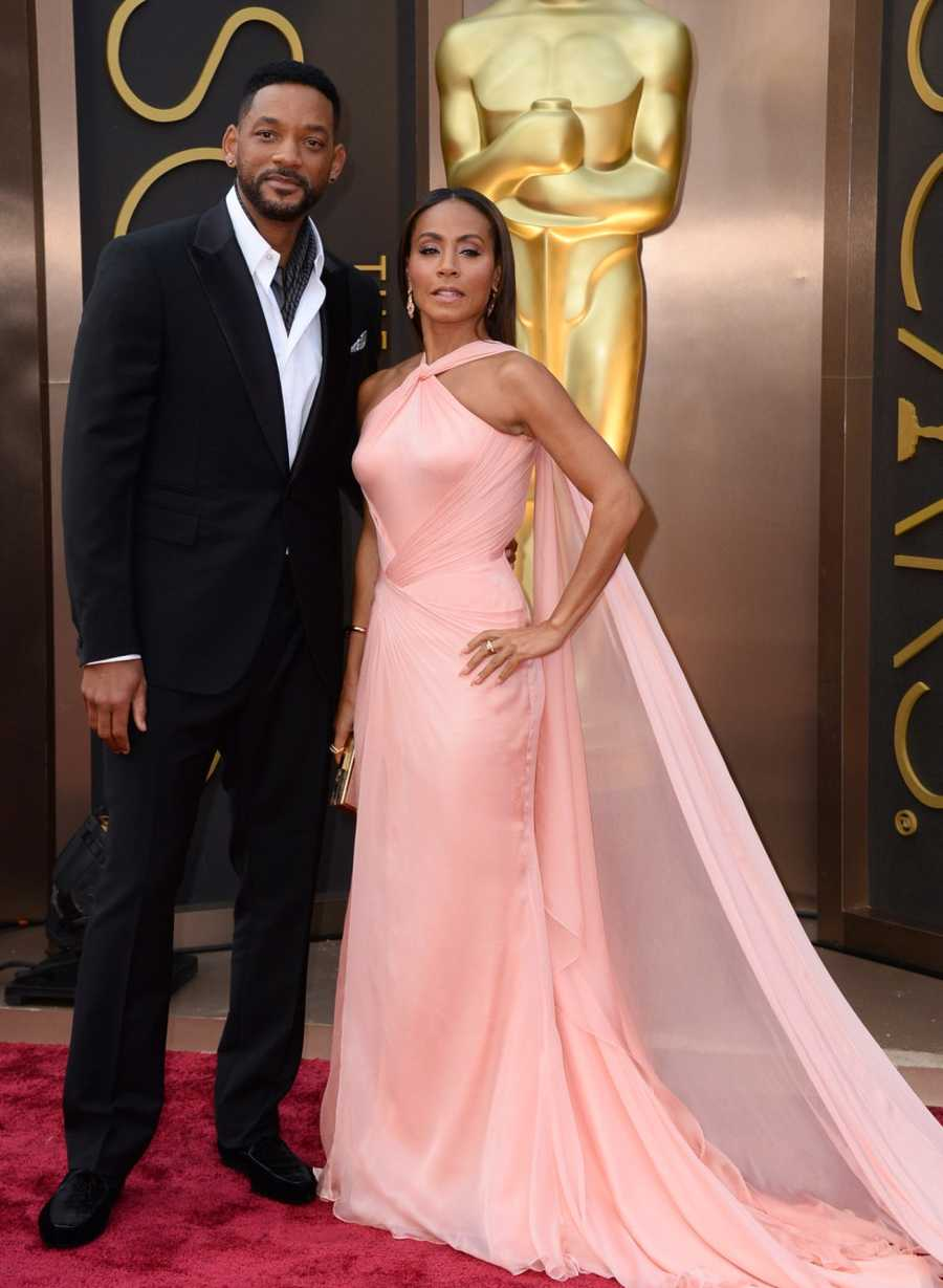 Actor Will Smith with his wife Jada Pinkett Smith