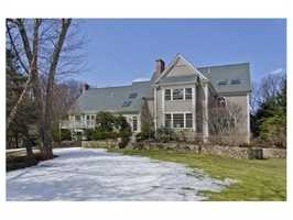 The home sits on 2.3 acres.