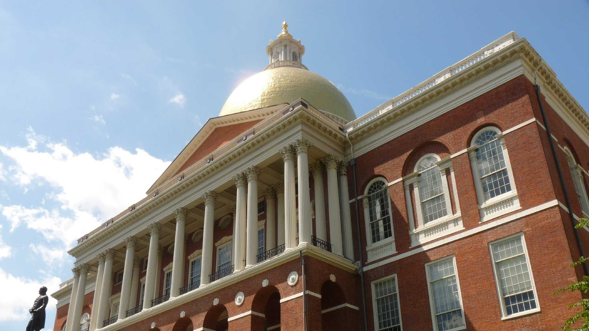The dome is topped with a pine cone, symbolizing both the importance of Boston's lumber industry during early colonial times and of the state of Maine, which was a district of the Commonwealth of Massachusetts when the Bulfinch section of the building was completed.