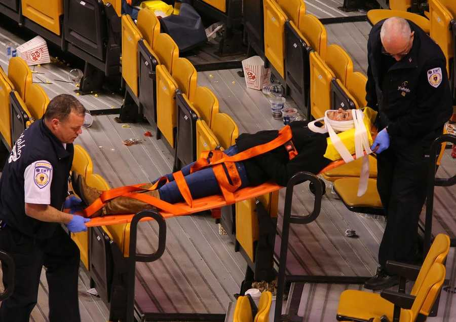 The incident is under investigation. (Photo Courtesy:  John Tlumacki/Boston Globe)