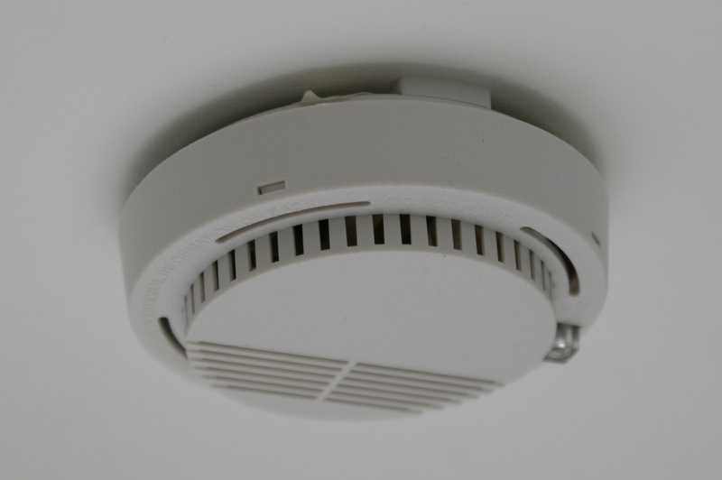 Check the battery in every one of your smoke detectors, and test them to make sure they are functioning properly.