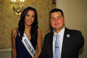 Kisielewski with Miss Massachusetts USA 2014 Caroline Lunny