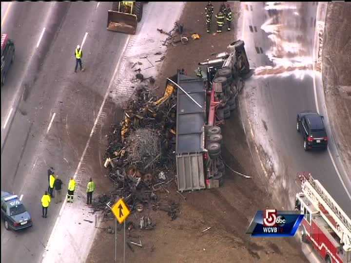 Traffic was delayed on both sides of the highway due to the crash.