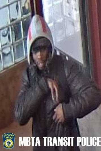 Transit police are seeking the public's help in finding a man who robbed a woman of her bag at an MBTA station.