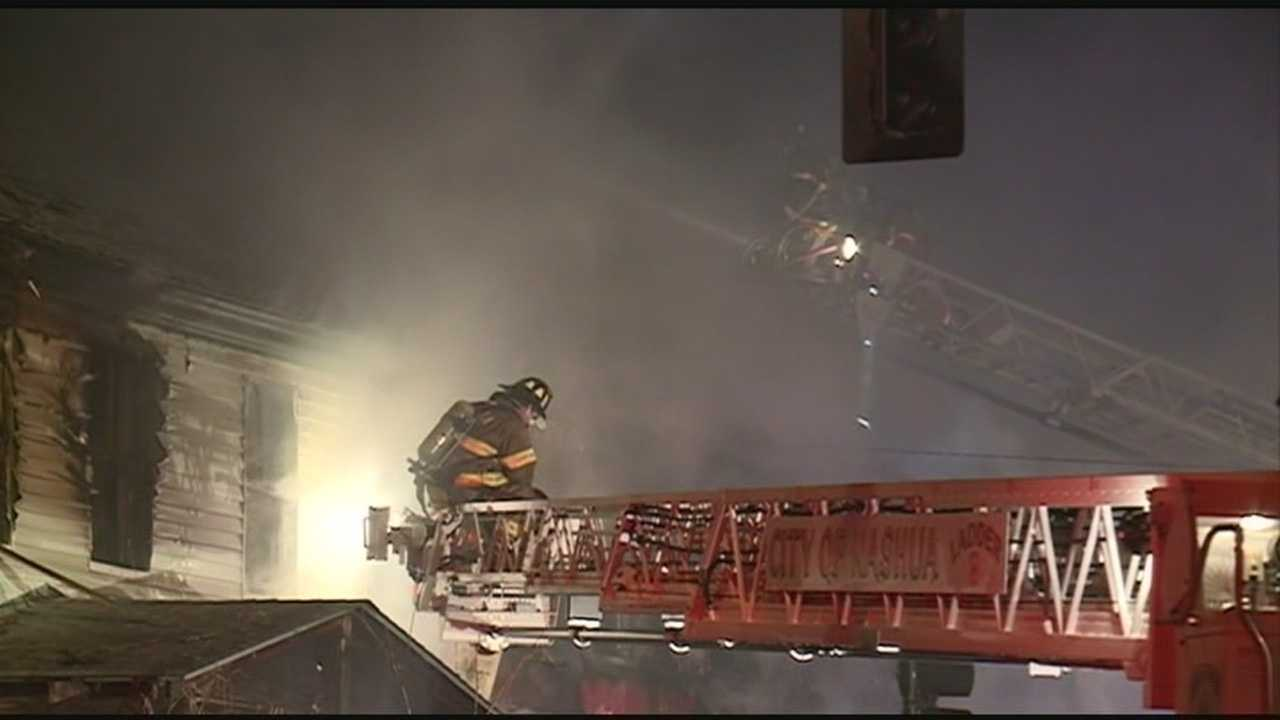 Nashua firefighters battle blaze