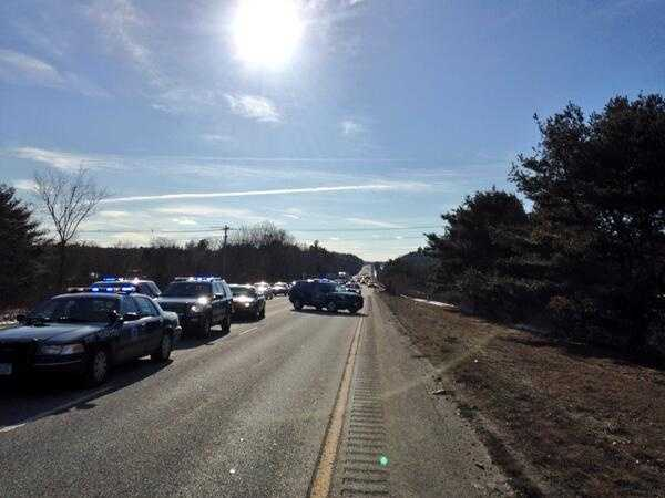 Police said drivers headed through the area should expect delays.