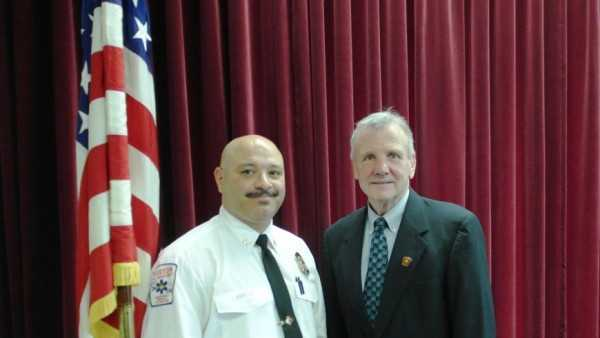 Depury Fire Chief Andre Atallworth (left) and Fire Commissioner John Hasson (right)